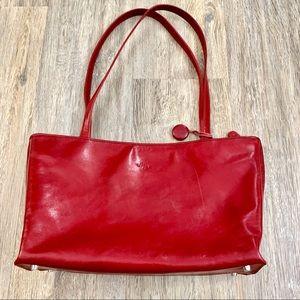 Monsac Bright Red Italian Leather bag